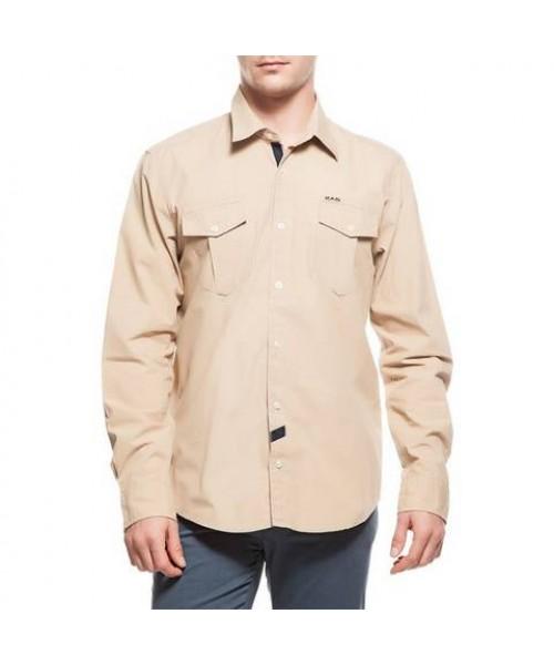 2AS Lamas Shirt Erkek Camel Gömlek