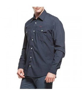 2AS Lamas Shirt Erkek Lacivert Gömlek