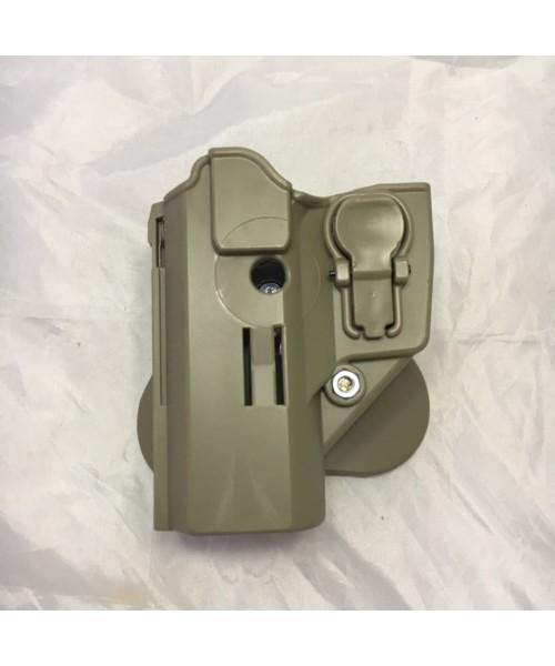 ACAR-AL CZ-75 / Browning HP Kilitli Sol Silah Kılıfı - TAN