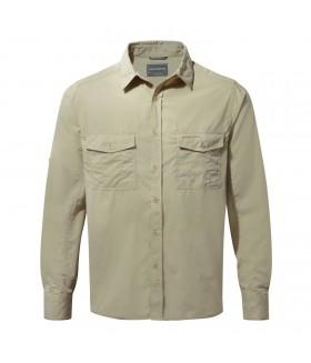 Craghoppers Kiwi LS Shirt - Uzun Kol UV Gömlek - Oatmeal