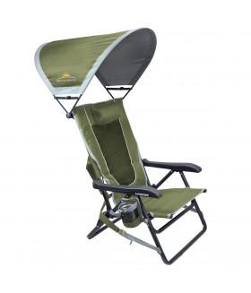GCI Outdoor - SunShade Backpack 4 Kademeli Güneşlikli Katlanır Kamp Sandalyesi - Yeşil