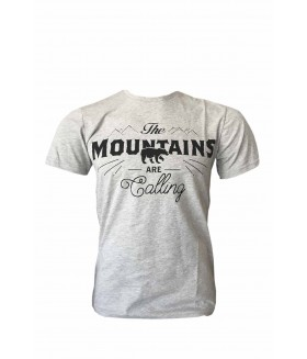 Guntack Mountains Erkek Gri T-shirt