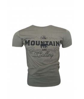 Guntack Mountains Erkek Haki T-shirt
