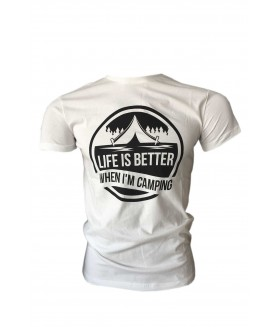 Guntack Life Is Better Erkek Ekru T-shirt