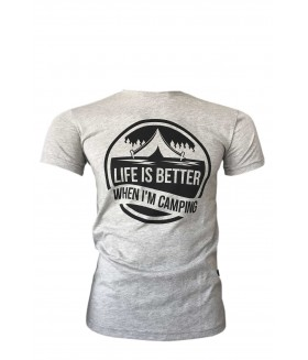 Guntack Life Is Better Erkek Gri T-shirt