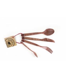 Kupilka Cutlery  Kırmızı Çatal-Bıçak-Kaşık Takımı 4 Parça