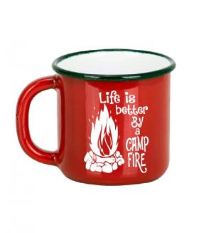 Emaye Macera Kupası - Fire - Kırmızı