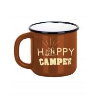 Emaye Macera Kupası - Happy Camper - Kahve