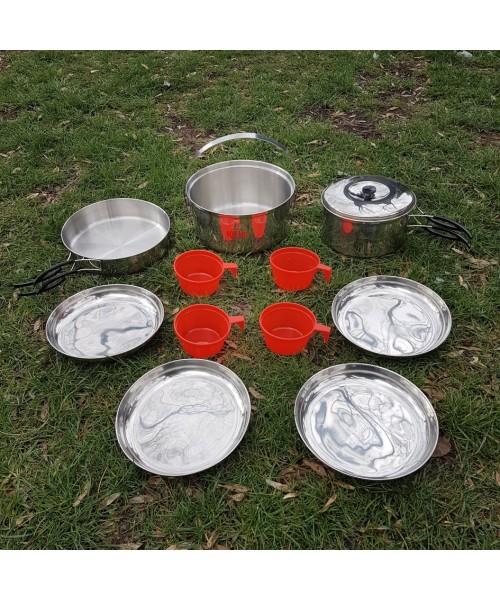 SQUARE - 4 Kişilik Kamp Yemek Seti
