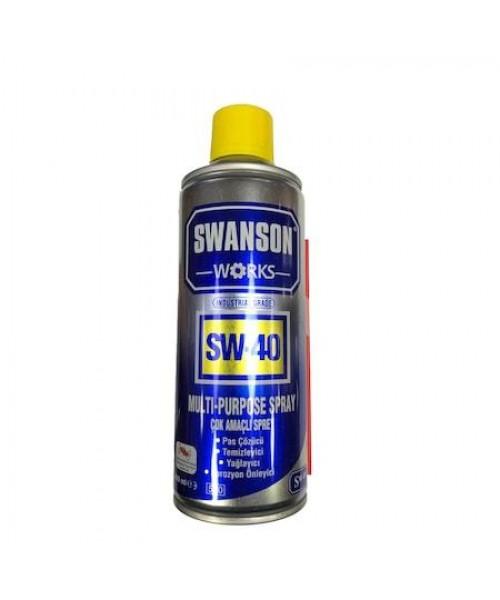 Swanson Works SW-40 Çok Amaçlı Silah Temizleme Spreyi - 400 ml
