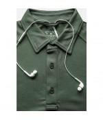 Sivugin Polo Yaka Taktikal Tişört - Haki