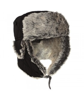 Sturm Siyah Kürklü Pilot Şapka