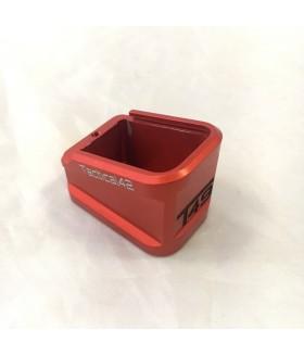 Canik TP9 SF +5 Şarjör Kapasite Artırıcı Alüminyum Şarjör Kapağı - Kırmızı