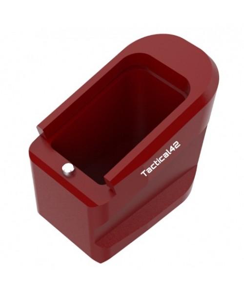 Sarsılmaz SAR9 +5 Şarjör Kapasite Artırıcı Alüminyum Şarjör Kapağı - Kırmızı