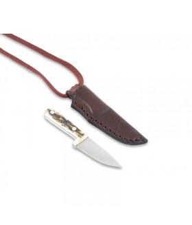 Bushcraft Geyik Boynuz Sap Kolye Bıçak