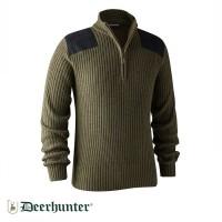 Deer Hunter - Rogaland Yarım Fermuarlı Yeşil Kazak