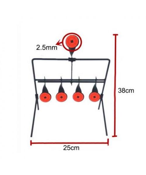 5 atışlık Çelik Gonk Hedef - Otomatik Restli