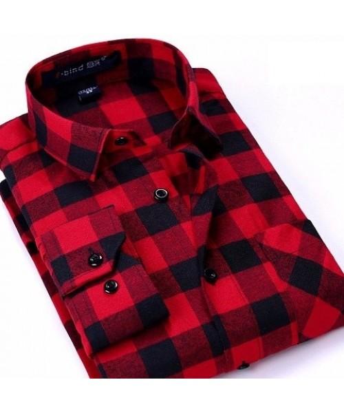 Bafa Bushcraft Ekose Gömlek - Kırmızı