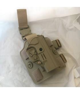 ACAR-AL Sarsılmaz SAR9 Kilitli Bacak Silah Kılıfı - TAN