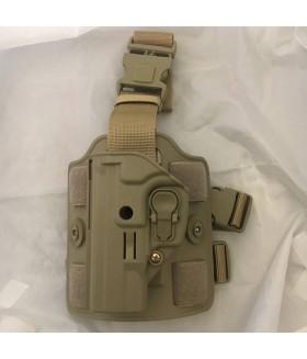 ACAR-AL Sarsılmaz SAR9 Kilitli Sol Bacak Silah Kılıfı - TAN
