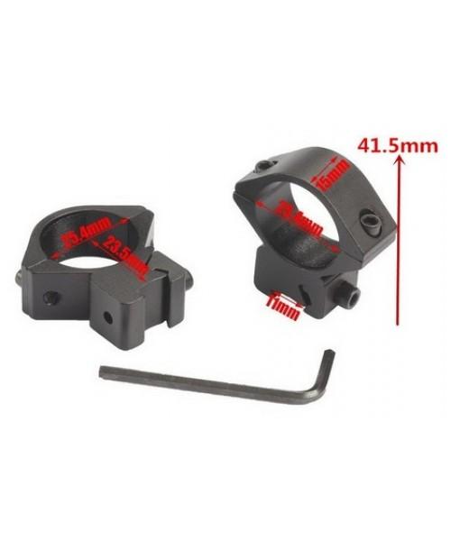 25 mm Alçak Dürbün Ayağı (2 parça) 11 mm - Dar Bant