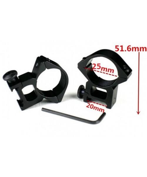 25 mm Alçak Dürbün Ayağı (2 parça) 22 mm - Geniş Bant