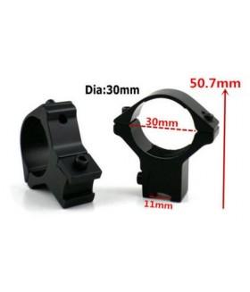 30 mm Alçak Dürbün Ayağı (2 parça) 11 mm - Dar Bant