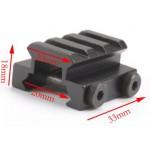 Picatinny Taktikal Ray Yükseltme Aparatı Kısa 20mm