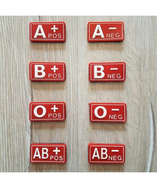 Taktikal Kan Grubu Patch - Silikon Kırmızı