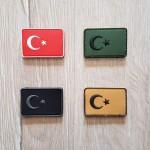 Taktikal Türk Bayrağı Patch - Silikon