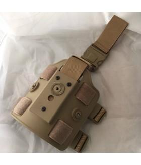 Plastik Silah Kılıfı Bacak Bağlantı Platformu - TAN